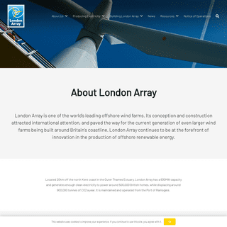 London Array – A leader in offshore renewable energy since 2013