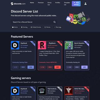 Discords.com - Find public Discord servers