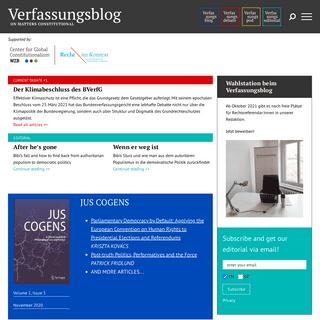 Verfassungsblog – On Matters Constitutional
