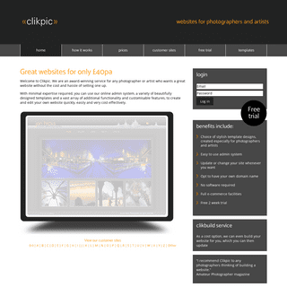 Clikpic- Great websites for only £40pa