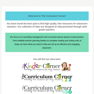 The Curriculum Corner – Providing Free Resources for Busy Teachers