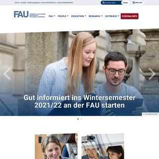 Friedrich-Alexander-Universität Erlangen-Nürnberg - Friedrich-Alexander-Universität Erlangen-Nürnberg