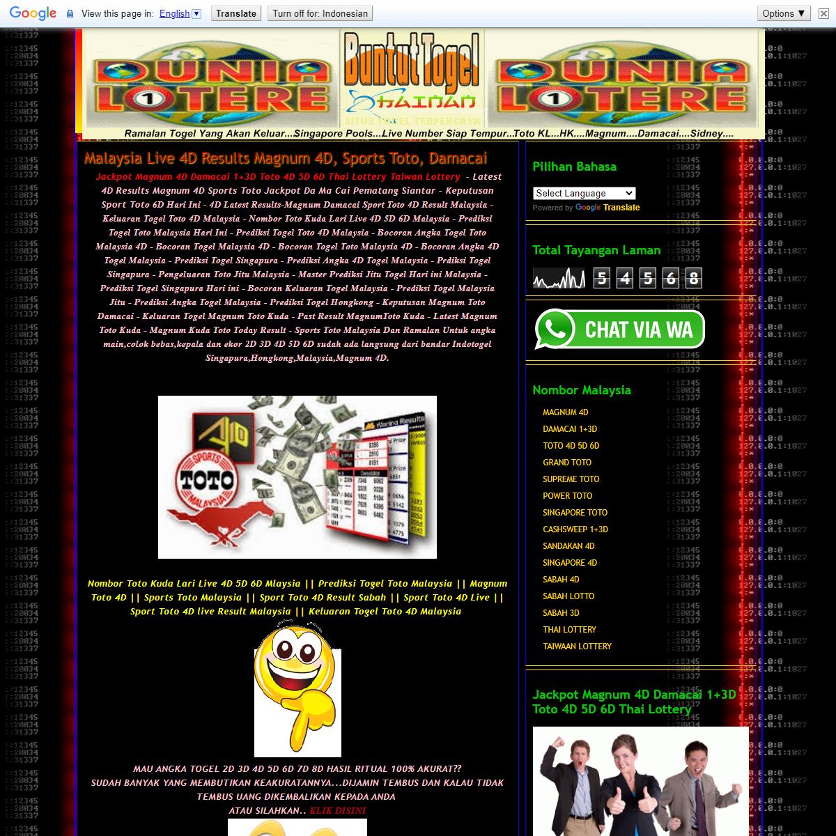 JACKPOT MAGNUM 4D DAMACAI 1+3D TOTO 4D 5D 6D MALAYSIA