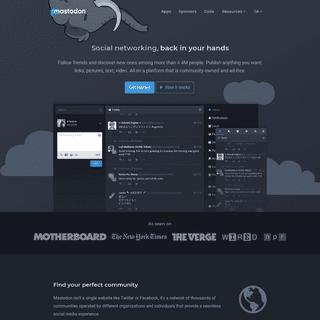 Giving social networking back to you - Mastodon