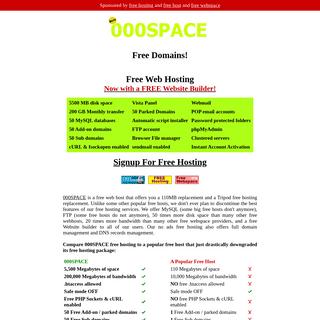 Free Hosting - 000SPACE