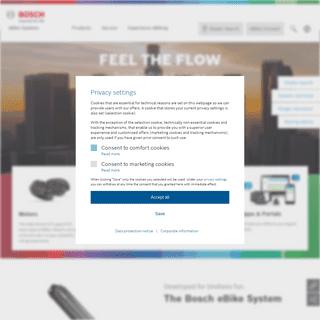 Bosch eBike Systems - Premium drives for eBikes & pedelecs