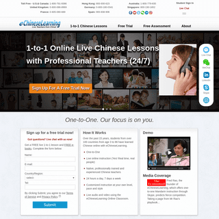 Learn Chinese Online through One-to-One Chinese Lessons
