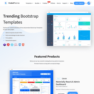 25+ Bootstrap, React And Angular Admin Templates By Codedthemes