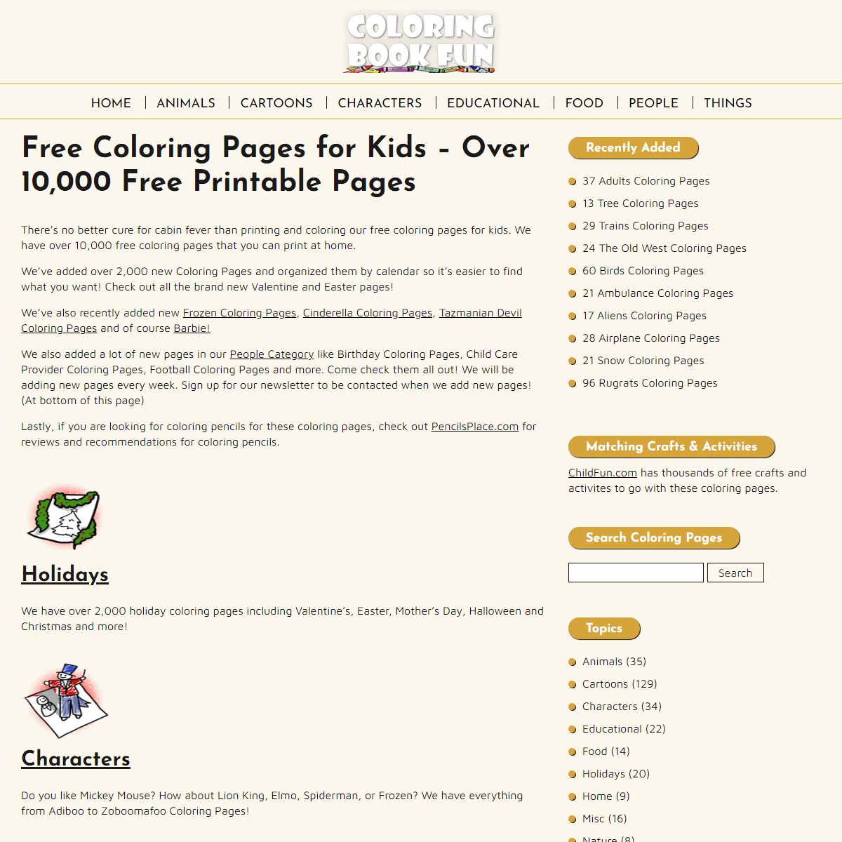Free Coloring Pages for Kids - Over 10,000 Free Printable Pages - ColoringBookFun