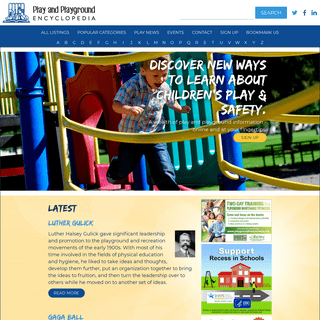 A wealth of play and playground information at your fingertips.
