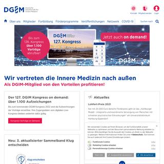 DGIM- Deutsche Gesellschaft für Innere Medizin e.V.