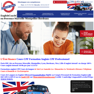 EnglishCoachCPF- Formation Cours intensifs anglais CPF DIF Paris Lille Lyon Aix-en-Provence Marseille Montpellier Bordeaux – E