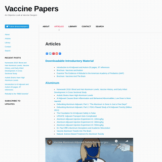 VaccinePapers.org - An objective look at vaccine dangers. vaccinepapers.org
