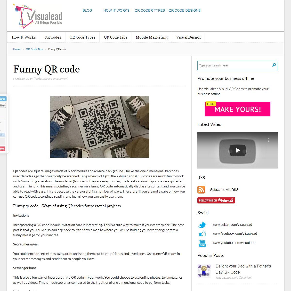 Funny QR code - Visual QR Code Generator Blog - Visualead