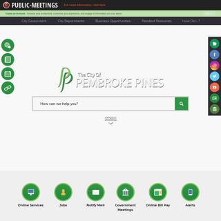 Pembroke Pines, FL - Official Website - Official Website