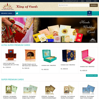 Wedding Cards - Shadi Card - Marriage Invitation Cards - King of Cards