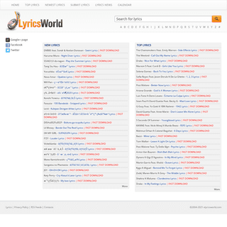 Lyrics and Music News at eLyricsWorld.com