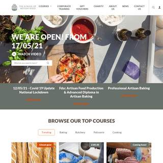 Artisan bakery courses and cooking classes - School of Artisan Food