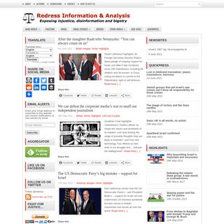Redress Information & Analysis – Exposing injustice, disinformation and bigotry