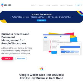 Document Management, BPM, and Regulatory Compliance for Google Workspace - AODocs