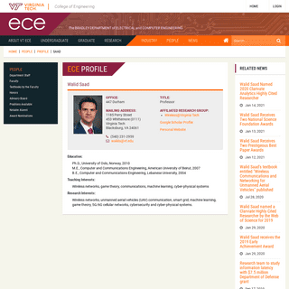 Walid Saad - ECE - Virginia Tech