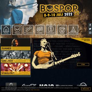 Bospop 8-9-10 juli 2022 - ouderwets gezellig pop-rockfestival in Weert