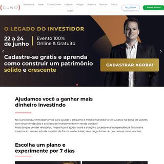 Suno Research - Investimentos Inteligentes