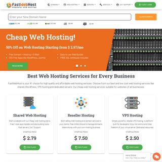 Fast Web Hosting, Best Managed WordPress, VPS Hosting Services - FastWebHost