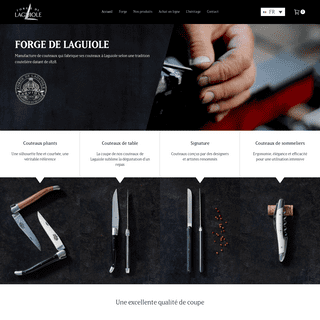 Les authentiques Couteaux de Laguiole fabriqués à Laguiole