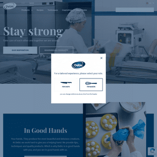 Quality dairy food products and inspiration for chefs and bakers - Debic