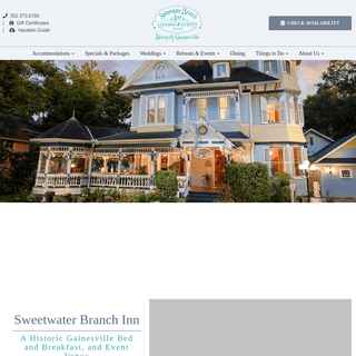 Gainesville Bed and Breakfast - Historic B&B In Gainesville - Sweetwater Branch Inn