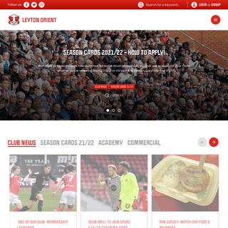 Official Leyton Orient FC Website - The O`s