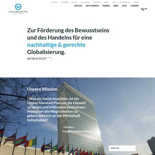 Global Marshall Plan - Welt in Balance