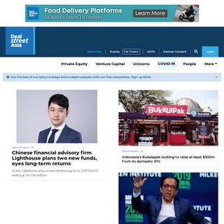 DealStreetAsia - Asia-focused financial news and intelligence platform