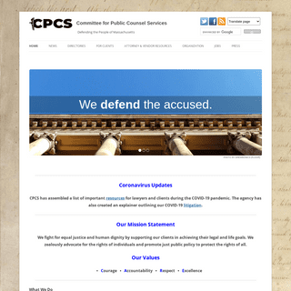 Committee for Public Counsel Services - Defending the People of Massachusetts