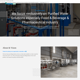 Rapid Ion – Solution for Water Treatment