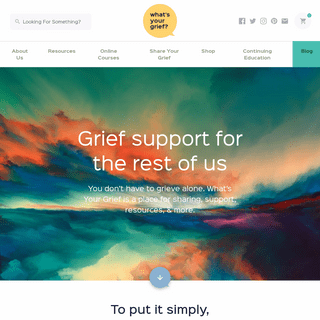 Whats your Grief - A Grief Website for the Rest of Us