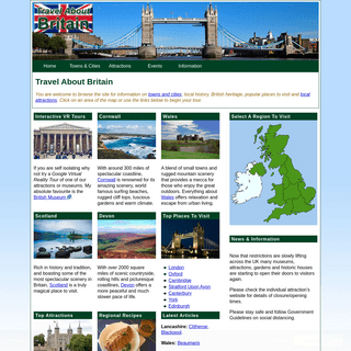 Travel About Britain - Guide to Great Britain, England & the UK