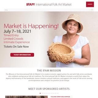 International Folk Art Market (IFAM) - Santa Fe, NM