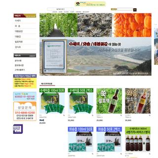 사또네 - 수세미, 와송, 대봉곶감