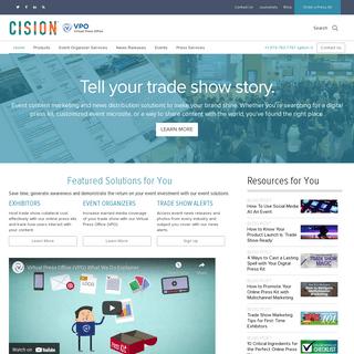 Virtual Press Office- Tradeshow press release distribution, press kits, event marketing - Home