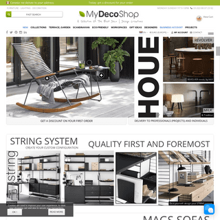 Scandinavian furniture, Nordic decoration and designed lighting - my-deco-shop.com