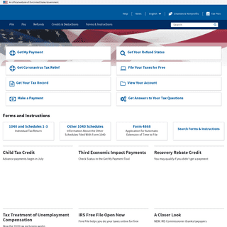 Internal Revenue Service - An official website of the United States government