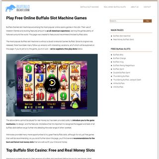 Buffalo Slot Machine- Play Free Buffalo Slots Online in 2021!