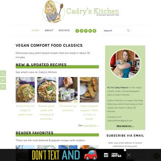 Vegan Comfort Food Classics - Cadry`s Kitchen