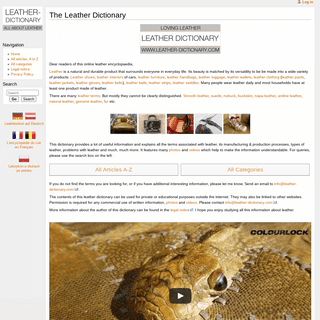 www.leather-dictionary.com - The Leather Dictionary