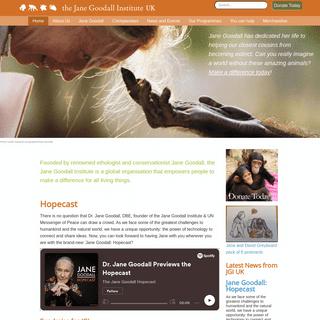 Home - Jane Goodall Institute UK