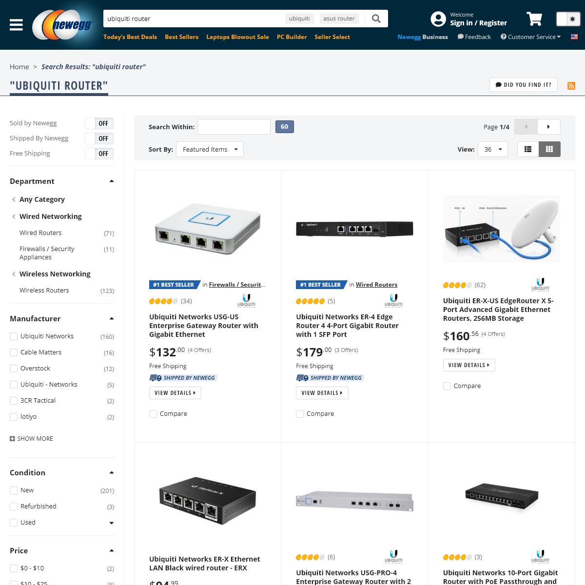 ubiquiti router - Newegg.com