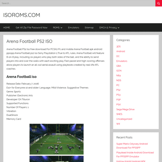 Arena Football PS2 ISO – ISOROMS.COM