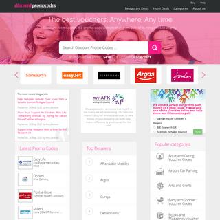 Discount Promo Codes - Discount Voucher Codes, Deals & Offers